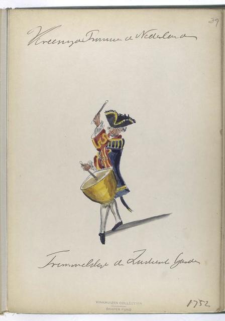 Vereenigde Provincien der Nederlanden. Trommelslager der Zwitserse Guardes. 1752