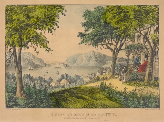 View on the Hudson River, from Ruggles House, Newburgh