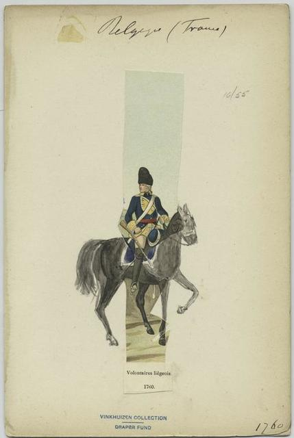 Voluntaires liégeois. 1760.