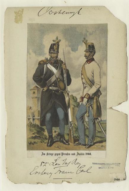 52-e Ungar. Inf. Reg.  Erzherzog Franz;  Im Kriege gegen Preussen und Italien 1866.