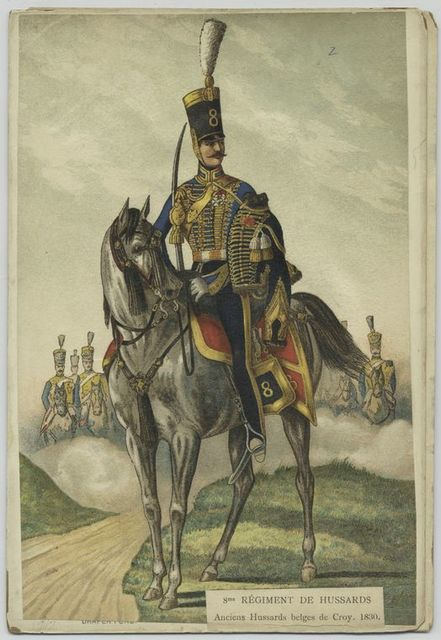 8me régiment de Hussards. Anciens Hussards belges de Croy. 1830