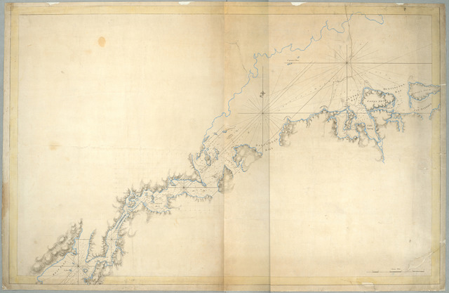 A chart of New York Island & North River, East River, passage through Hell Gate, Flushing Bay, Hampstead Bay, Oyster Bay, Huntington Bay, Cow Harbour, East Chester Inlet, Rochelle, Rye, Patrick Islands, &c.
