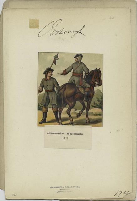 Altfeurwerker, Wagenmeister, 1722