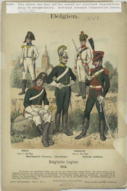 Belgien. Belgishe Legion, 1814