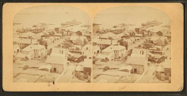 [Bird's-eye view of Nantucket.]