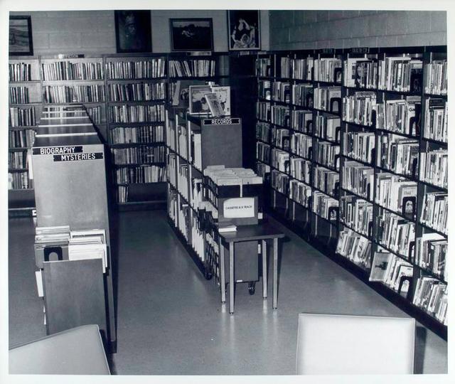 Bookshelves at the Dongan Hills Library