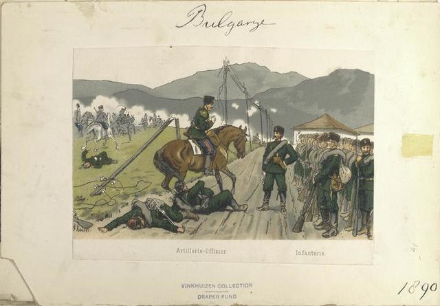 Bulgarije. Artillerie-Offizier; Infanterie. (1890)