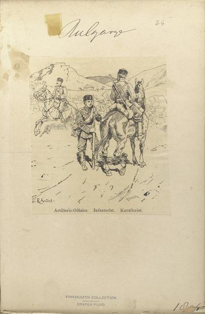 Bulgarije. Artillerie-Offizier; Infanterist; Kavalerist. (1896)