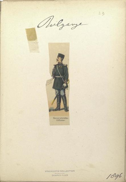 Bulgarije. Generalstabs-Offizier. (1896)