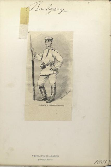 Bulgarije. Infanterist in Sommer Adjustirung. (1885) [Infantryman in summer uniform, 1885]