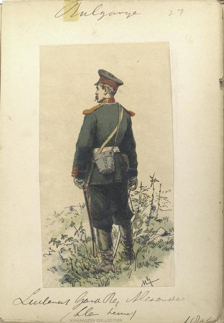 Bulgarije. Lieutenant Gard Regiment Alexander (klein tenue). (1896)