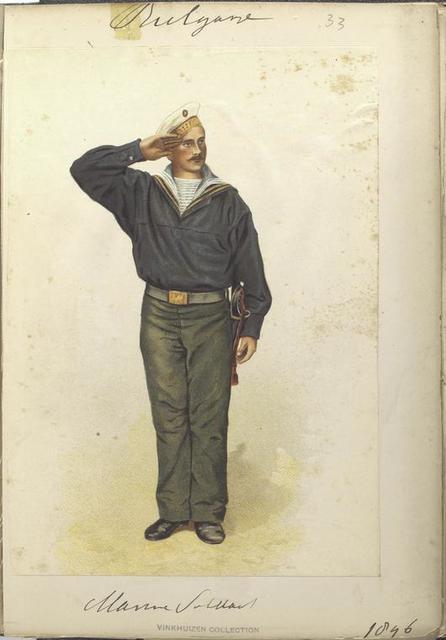 Bulgarije. Marine Soldaat. (1896)