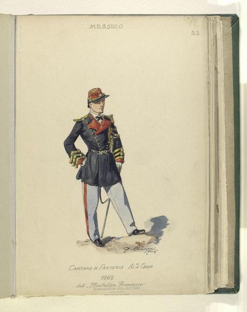 """Capitano di fanteria. Aide di campo. 1862. dall' """"Illustration francaise."""""""