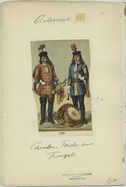 Cavalerie Pauker und Trompeter. 1700