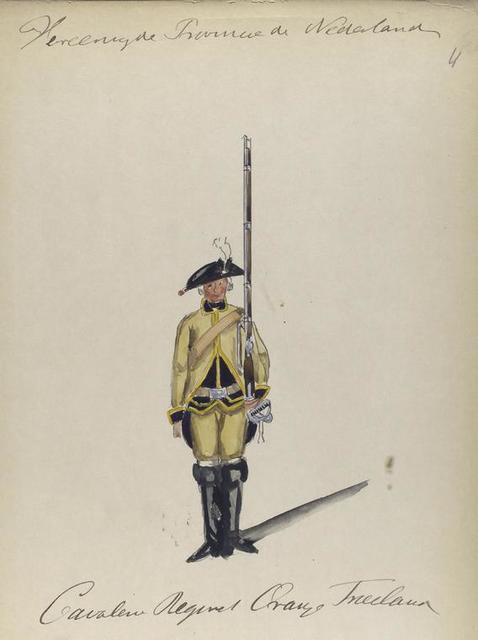 Cavalier Regiment Oranje Friesland. 1766