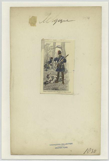 Chass. Chasteler 1830. Origine de chass. Élcair
