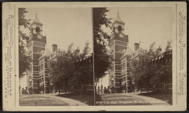 City Hall, Kingston, N.Y., Hudson River.