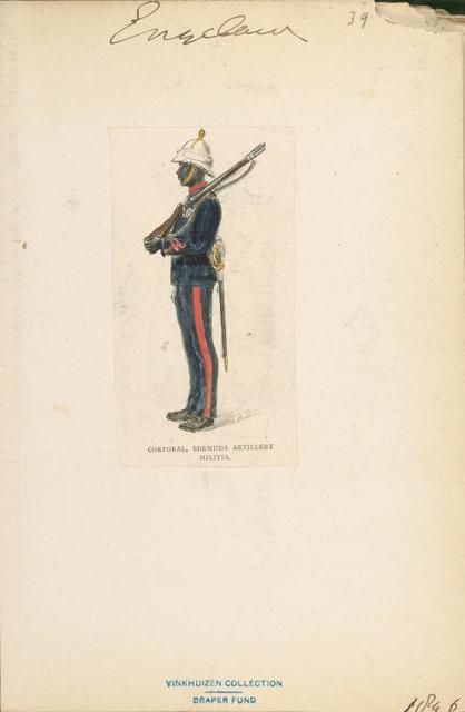 Corporal, Bermuda Artillery Militia.