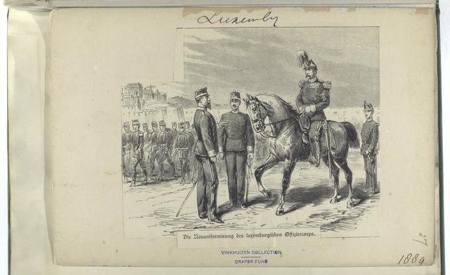 Die Neuuniformirung des luxemburgischen Offiziercorps, 1889
