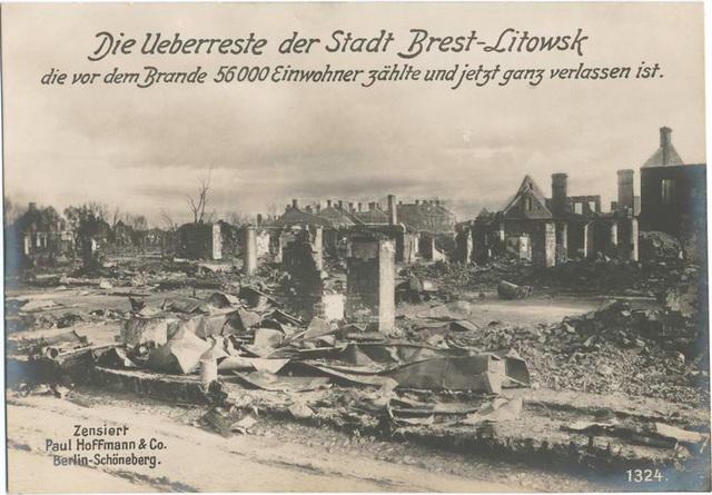 Die Ueberreste der Stadt Brest-Litowsk die vor dem Brande 56000 Einwohner zählte und jetzt ganz verlassen ist.