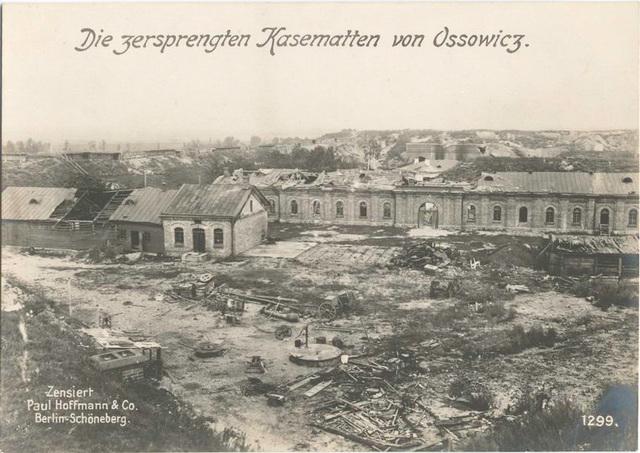Die zersprengten Kasematten von Ossowicz.