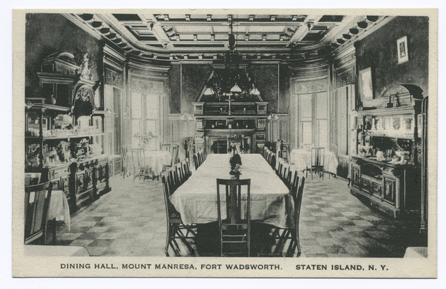 Dining Hall, Mount Manresa, Fort Wadsworth, Staten Island, N.Y.