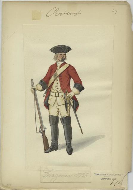 Dragoner, 1725