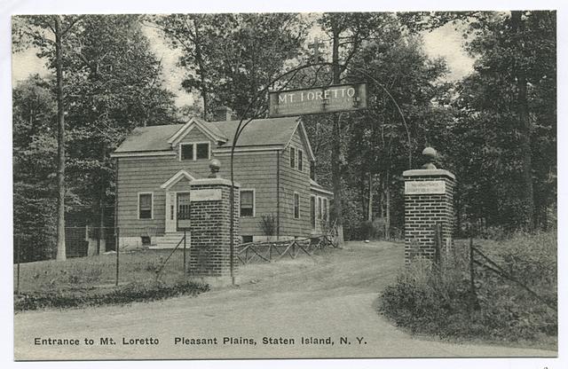 Entrance to Mt. Loretto Pleasant Plains, Staten Island, N.Y.