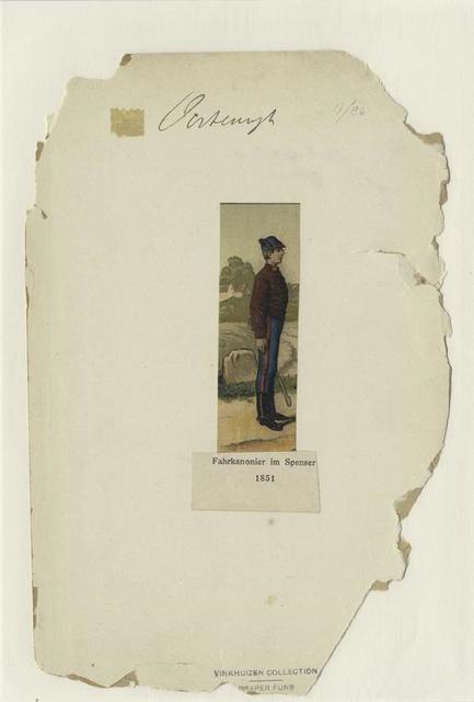 Fahrkanonier im Spenser, 1851