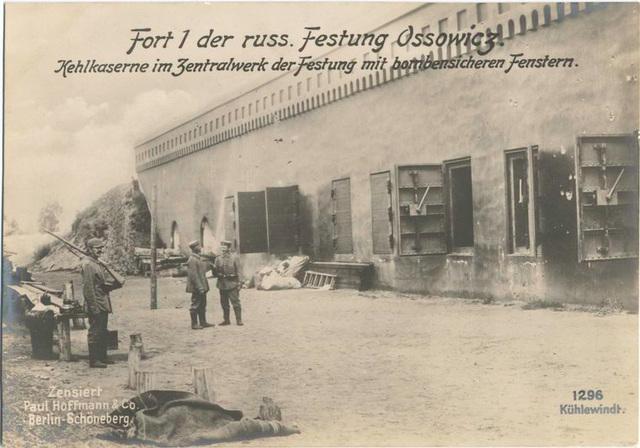 Fort 1 der russ. Festung Ossowicz. Kehlkaserne im Zentralwerk der Festung mit bombensicheren Fenstern.