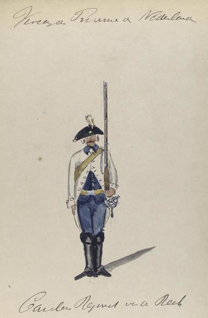 Gardes Regiment van de [].  1768