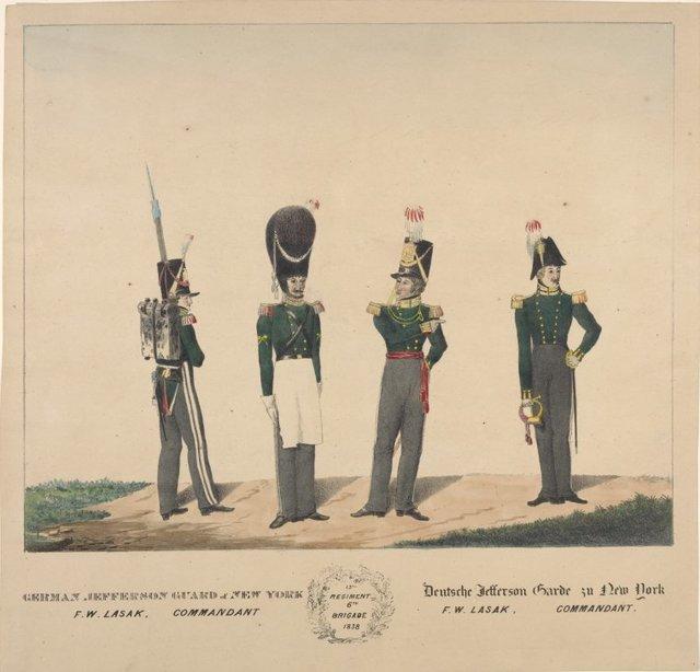 German Jefferson Guard of New York, F. W. Lasak, commandant. 13th regiment, 6th brigade, 1838.
