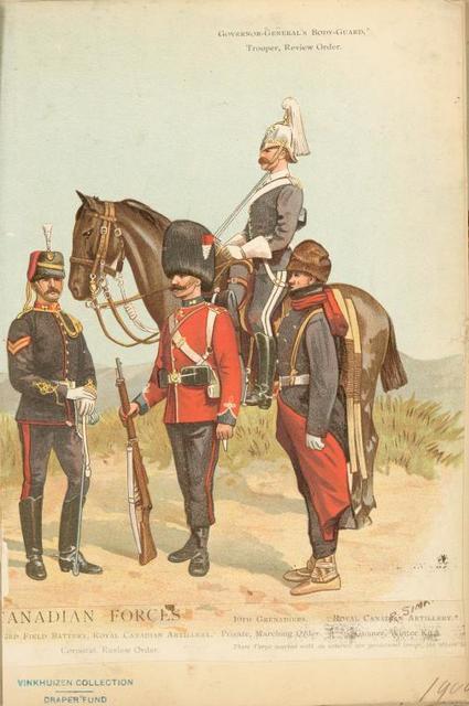 Governor-General's bodyguard, trooper, review order.
