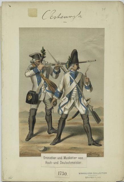 Grenadier und Musketier von Hoch-und Deutschmeister, 1730