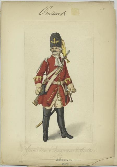 Grenadier v. Dragoner R. Galbes 1716