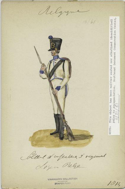 []Infanterie 3e régiment. Legion belge