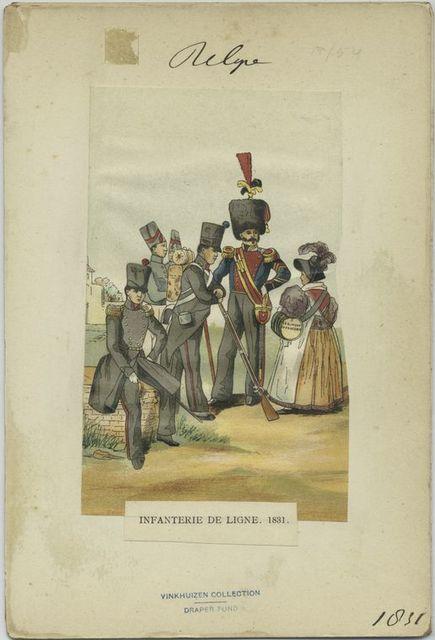 Infanterie de ligne. 1831