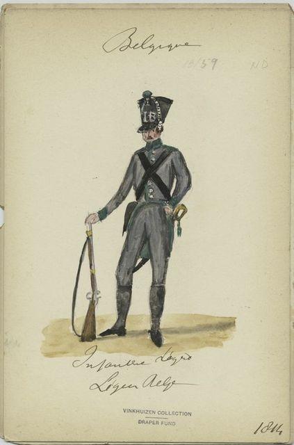 Infanterie légère. Légion belge.