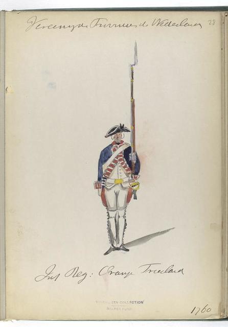 Infanterie Regiment: Oranje Friesland. 1760