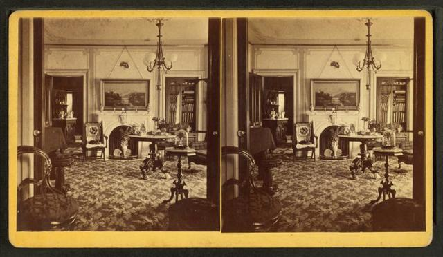 [Interior view of a parlor.]