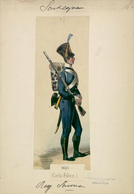 Italy. Sardinia, 1819-1825