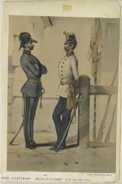[J]äger-Lieutenant. Oberlieutenant der Infanterie.