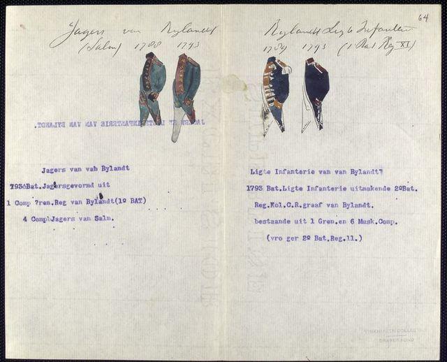 Jagers van Bylandt. (Salm). Bylandt Ligte Infanterie (I Bat Reg XI).