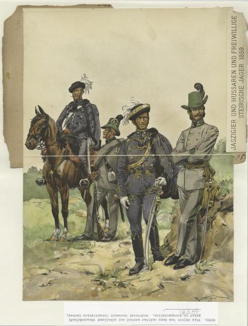 Jaszigier und Hussaren und Freiwillige Steirische Jäger 1859