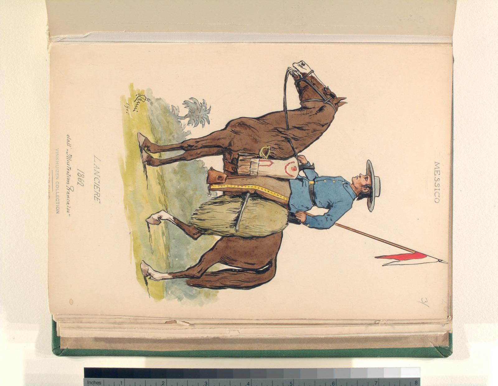 "Lanciere. 1862. dall'""Illustration francaise."""