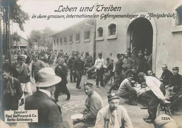 Leben und Treiben in dem grossen, internationalen Gefangenenlager zu Königsbrück.