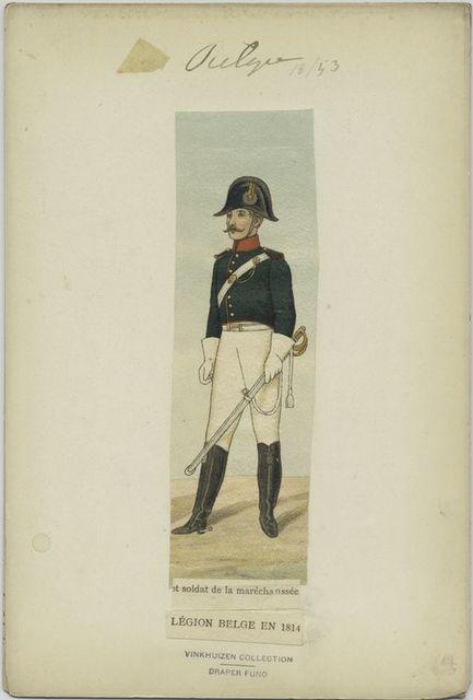 Légion belge en 1814 et soldat de la maréchausée