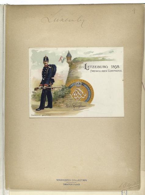 Letzburg 1898: freiwilligen Compagnie