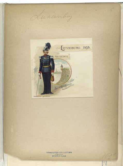 Letzburg 1898, nos soldats