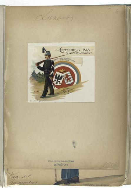 Letzeburg 1858 Bundes-Contingent: Garnison Echternach-Diekirch